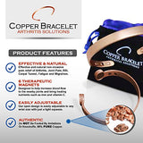 Copper Bracelet Twisted for Arthritis - GUARANTEED 99.9% PURE Copper Magnetic Bracelet For Men Women - 6 Powerful Magnets - Effective & Natural Relief Of Joint Pain, Arthritis, RSI, Carpal Tunnel!