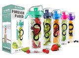 Live Infinitely 32 oz. Infuser Water Bottles - Featuring a Full Length Infusion Rod, Flip Top Lid, Dual Hand Grips & Recipe Ebook Gift (Mint, 32 oz)