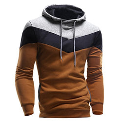 Men's Sweatshirts,Ankola Fall Winter Retro Color Block Hoodie Casual Outwear Hooded Pullover (M, Coffe)