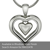 "The Eternity Heart 18kt Gold Finish Cremation Jewelry Urn Pendant Memorial Keepsake Necklace for Ashes with 20"" Snake Chain"