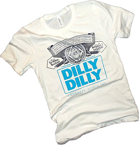 Anheuser-Busch, Dilly Dilly, Bud Light, Label, White Adult T-Shirt, Medium