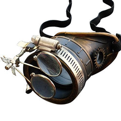 Steampunk Victorian Goggles welding Glasses monocle clear lens left eye