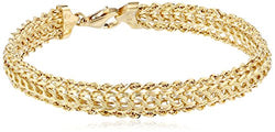 14K Yellow Gold Braided Rope Bracelet, 7.25