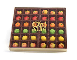 Oh! Nuts Marzipan Candy Fruits, Holiday Marzipans Gift Tray in a Fancy Box, Unique Basket for Women & Men Alike, Send it Christmas or Thanksgiving Gourmet Gifts Food Idea (36 Piece)