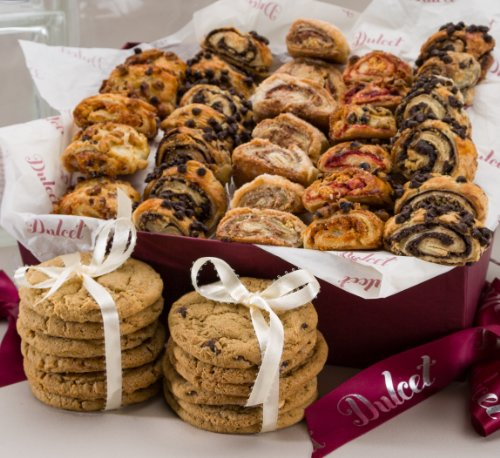 Dulcet Sweet Success Gourmet Cookie Snacks ideal Gift Basket for Father's Day Graduation Idea For Men & Women, Birthday, Get Well Corporate Baskets