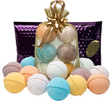 Bath Bombs Gift Set- 6 USA Lush Spa Fizzies.Gift Ideas,Women,Men,Teens.Natural Shea,Coconut Oil & Scents.Great Pampering Gifts for Relaxation.Top Gifts for Women,Men,Teens. Great Birthday Gift Set