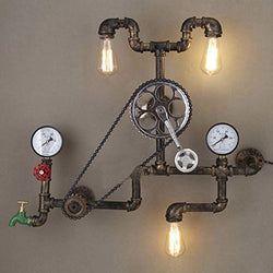 Industrial Retro Vintage Style Farmhouse Industry Steam Punk Wall Sconce - LITFAD 29.13