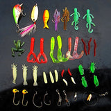 Freshwater Fishing Lure Kits,PortableFun Fishing Tackle Lots,Baits Set With Free Tackle Box,For Trout Bass Salmon