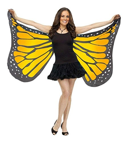 Fun World Women's Soft Butterfly Wings Adult Costume Accessory, Orange, Standard