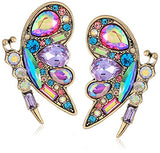 Betsey Johnson Womens Blooming Betsey Colorful Butterfly Stud Earrings, Multi, One Size