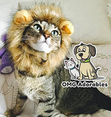 OMG Adorables Lion Mane Costume for Cats | Soft, Furry Pet Wig with Cute Ears | Fits Adult Felines and Small Dogs | Pet Friendly Clothing Accessories | Animal Safe