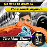 The Man Sham Chamois Cloth -Top Men's Gift - Ultimate Towel for Fast Drying of Your Car or Truck - Scratch and Lint Free Shine