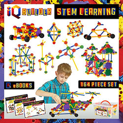 IQ BUILDER | STEM Learning Toys | Creative Construction Engineering | Fun Educational Building Blocks Toy Set for Boys and Girls Ages 5 6 7 8 9 10 Year Old | Best Toy Gift for Kids | Activity Game Kit