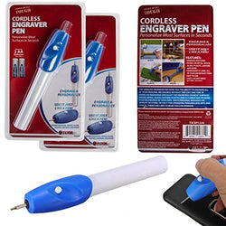 Cordless Engraving Pen - Perfect for Metal Wood Ceramic Glass - Accessory Tool for Crafting - Label Tools Jewelry and Valuables