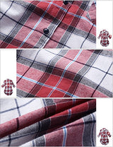 Match Women's Long Sleeve Plaid Flannel Shirt #2021(X-Small, Checks#1)