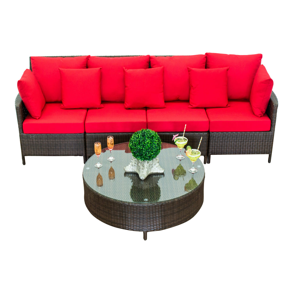 Showstopper Collection - 5pc. Straight Sectional