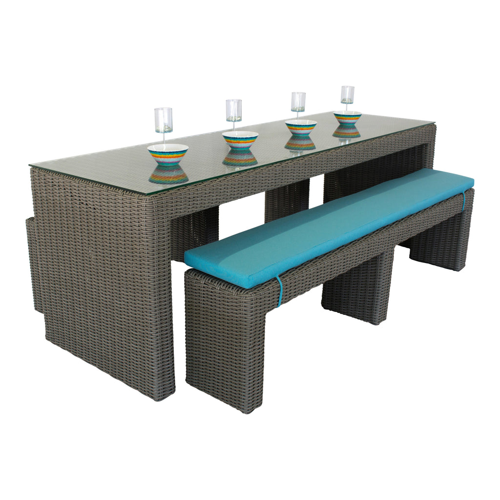 Mighty Gray Collection - Bench Dining Set