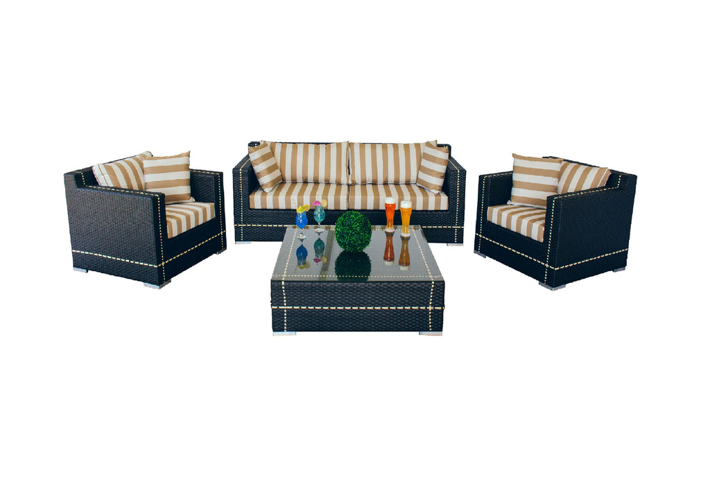Pinstripe Collection - 5pc. Sofa Set