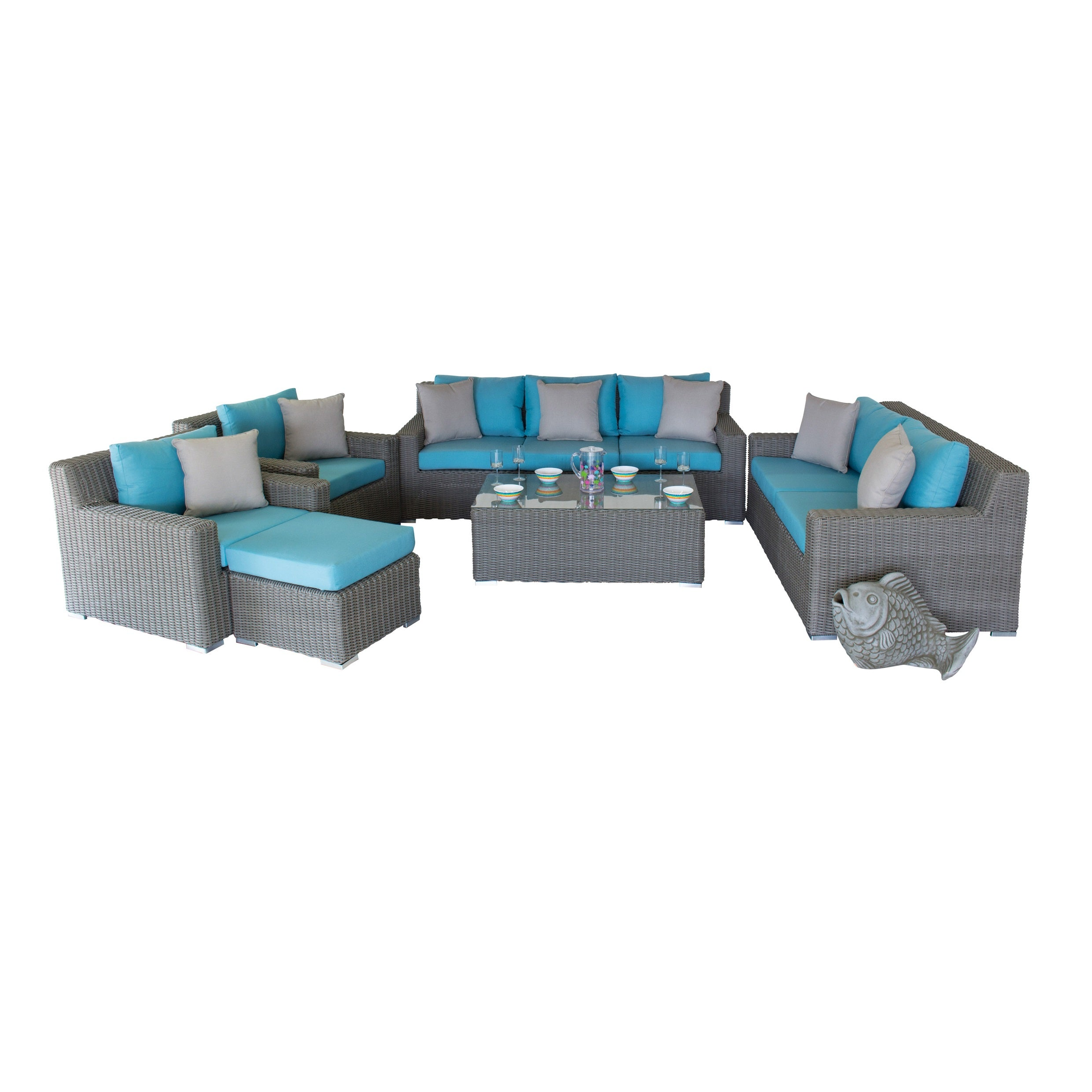 Mighty Gray Collection - 7pc. Sofa Set