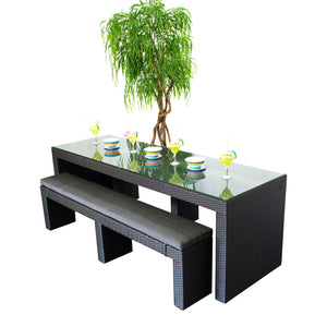 Resort Collection - Dining Bench Set