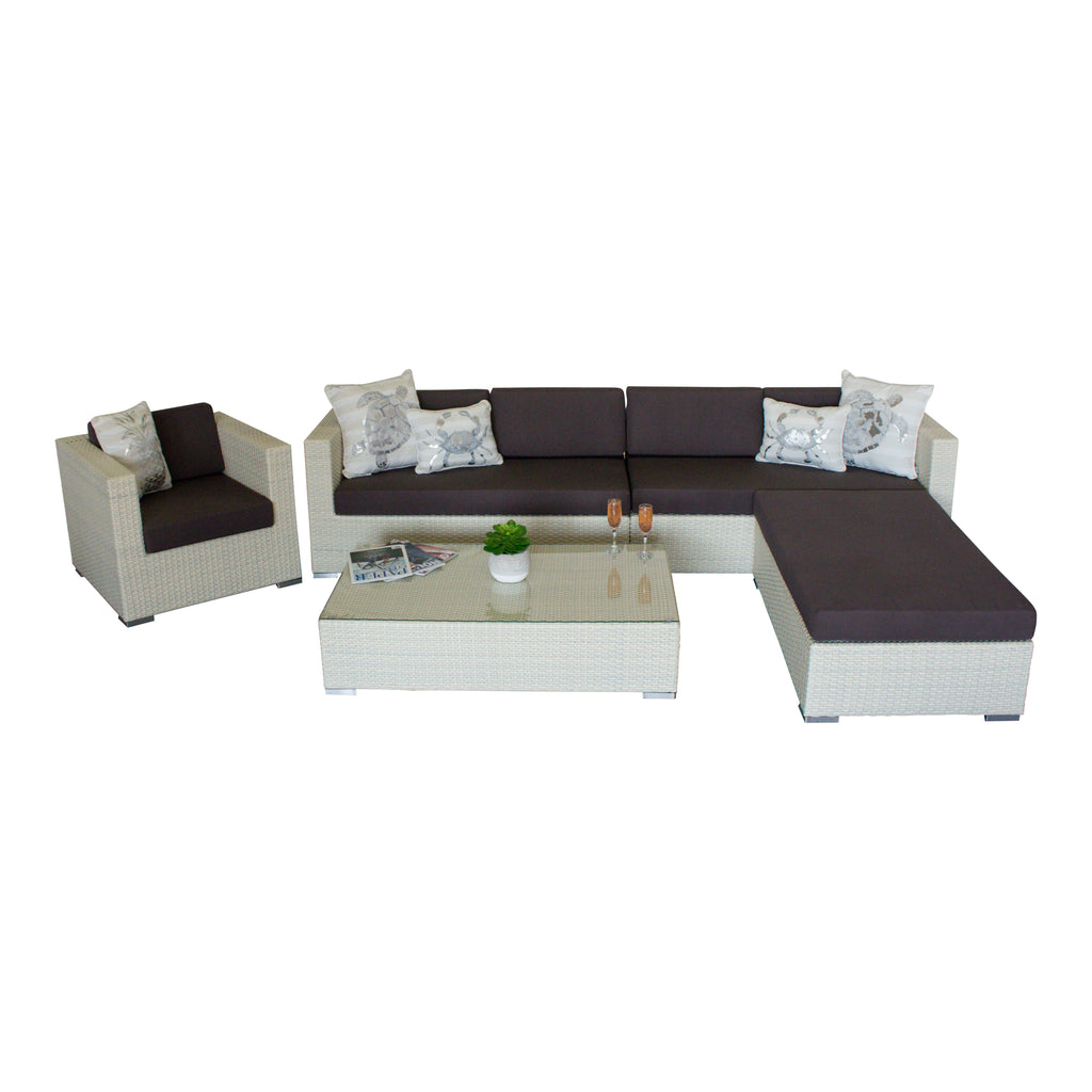 Why Not White - 5pc. Sectional