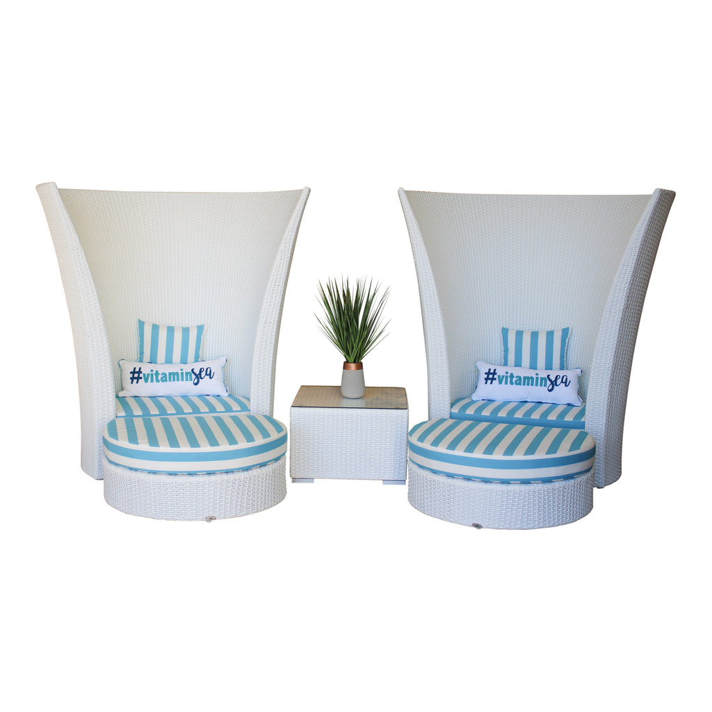Bahamas - 5pc. Throne Set