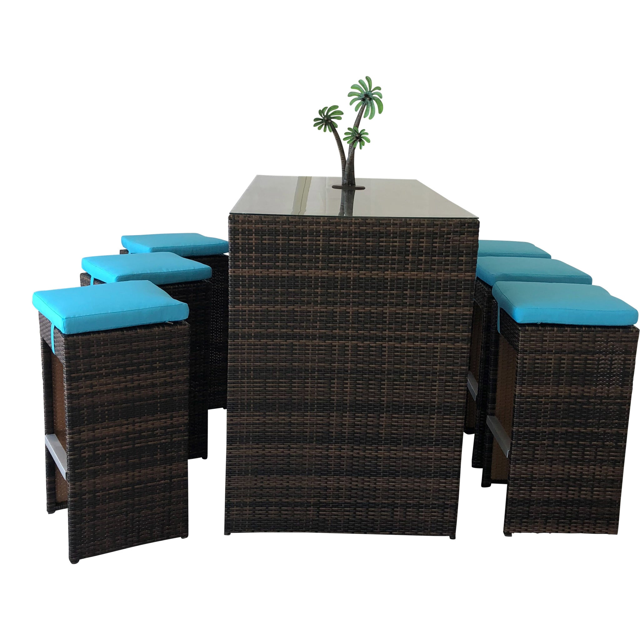 Ocean Park Collection - Dining Bar Set W/6 Stools