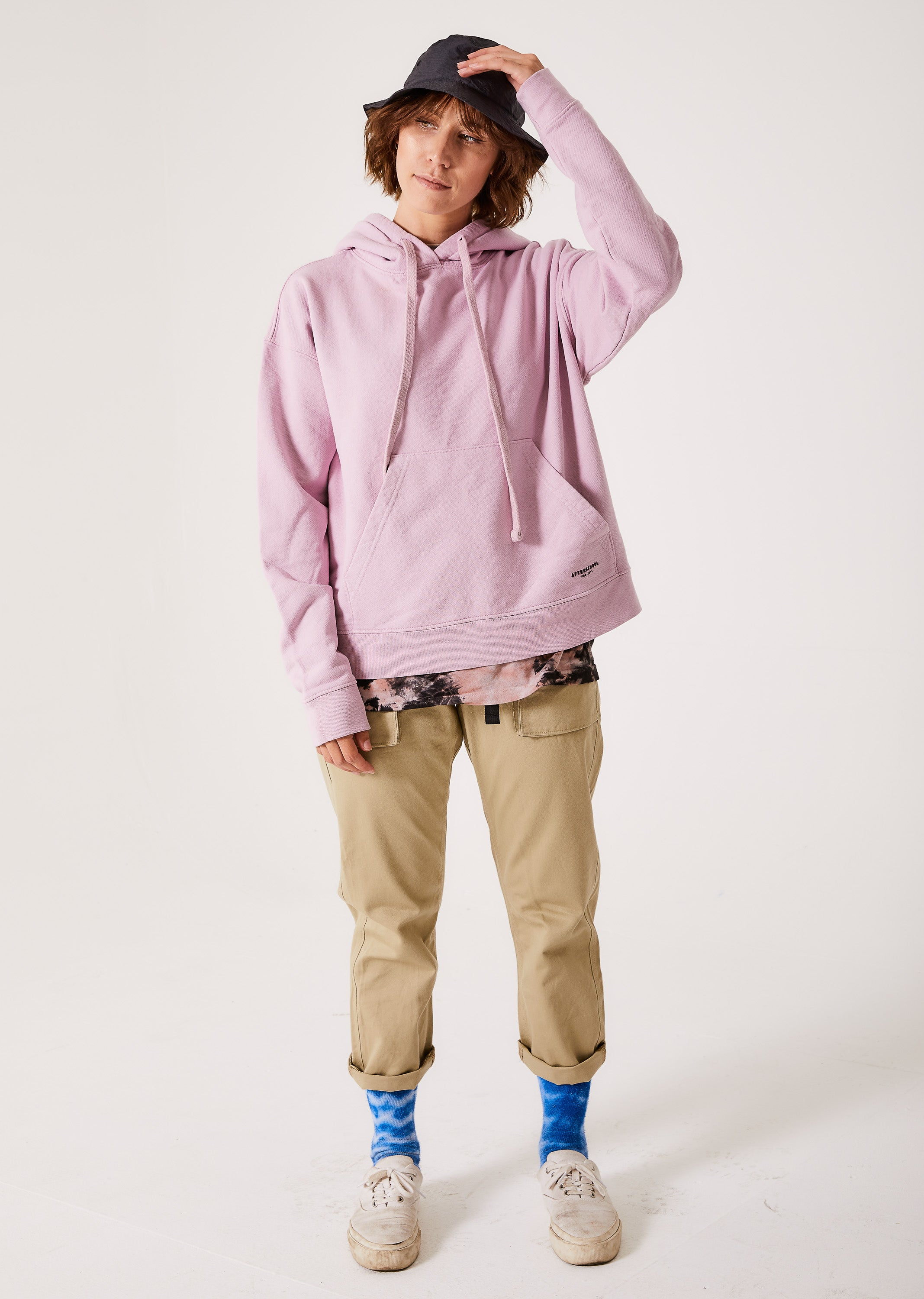 French Terry Oversized Hoodie Lilac
