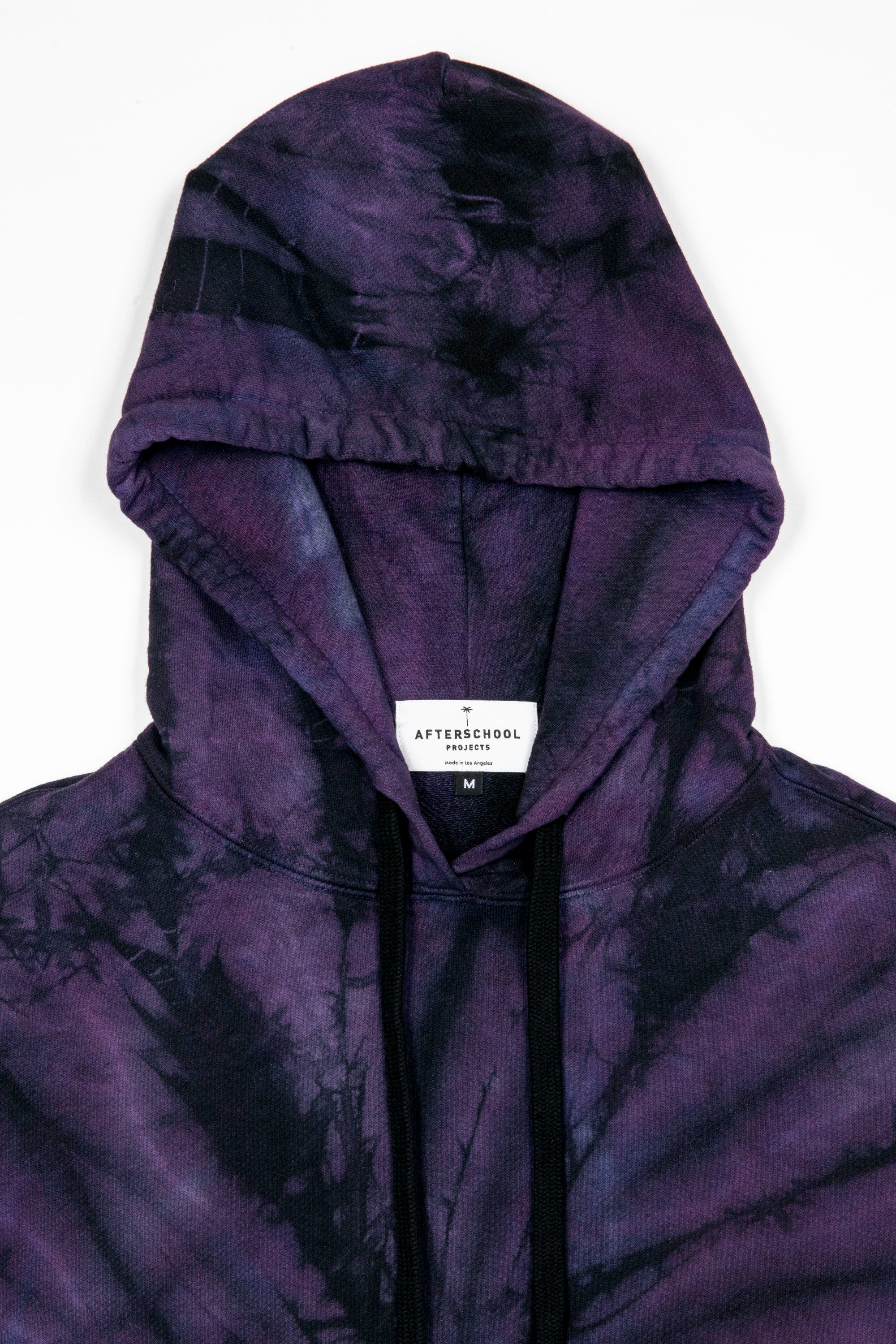 French Terry Oversized Hoodie Purple Tie Dye