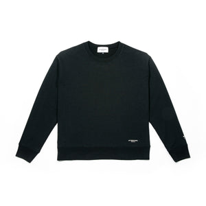 French Terry Crew Black