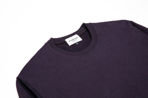 French Terry Crew Plum