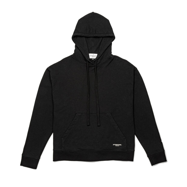 French Terry Oversized Hoodie Black