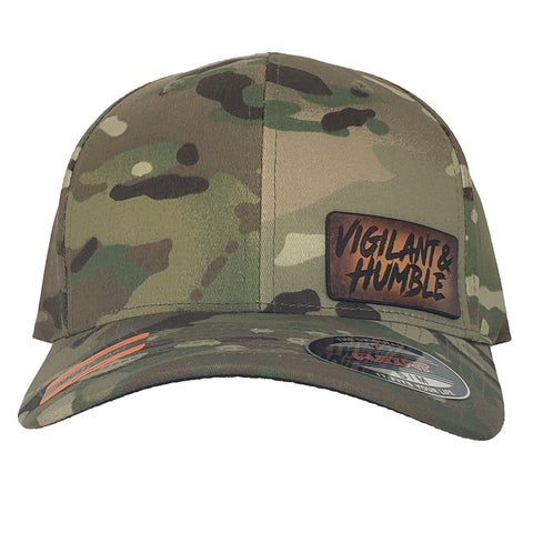 Multicam Leather Patch Hat