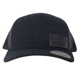 Black Leather Patch Hat