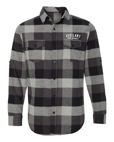 Vigilant and Humble Flannel - Grey
