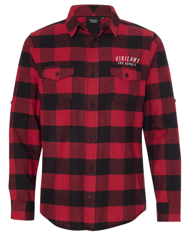 Vigilant and Humble Flannel - Red/Black