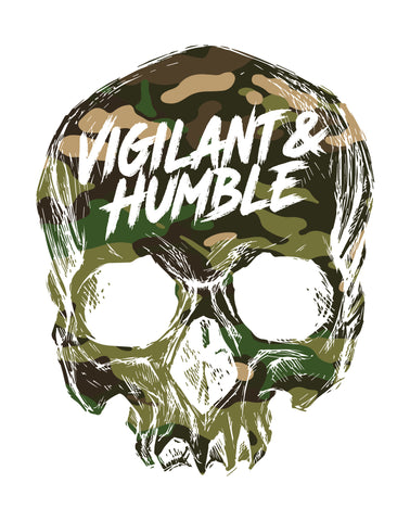 Multicam Tropic Skull Sticker - Vigilant & Humble