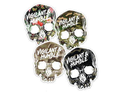 Skull Sticker Variety Pack - Vigilant & Humble