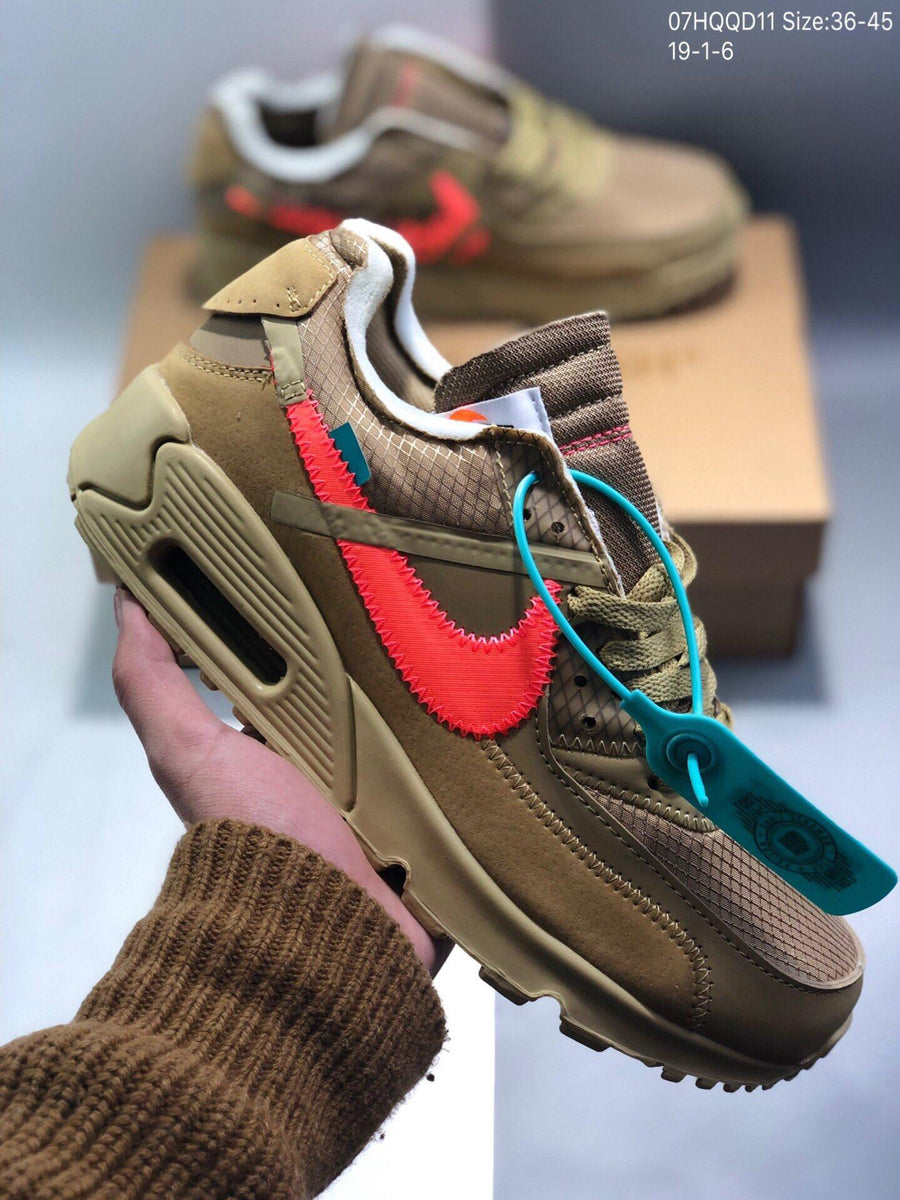NIKE Air Max 90 x OFF-WHITE Men s and women s cheap nike shoes – ilovetrade 0171b1044f