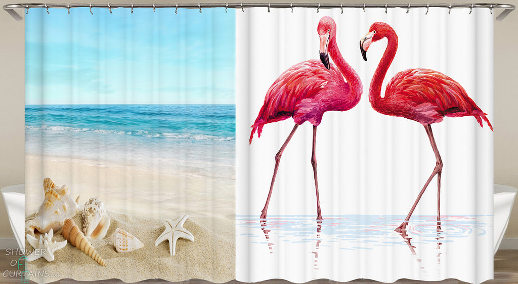 Art Beach Shower Curtains