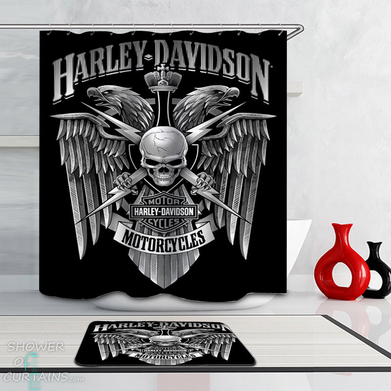 Harley Davidson Shower Curtains