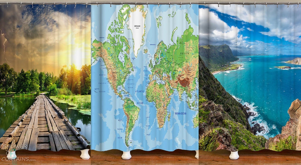 Shower Curtains - Our Beautiful World Bathroom Decor