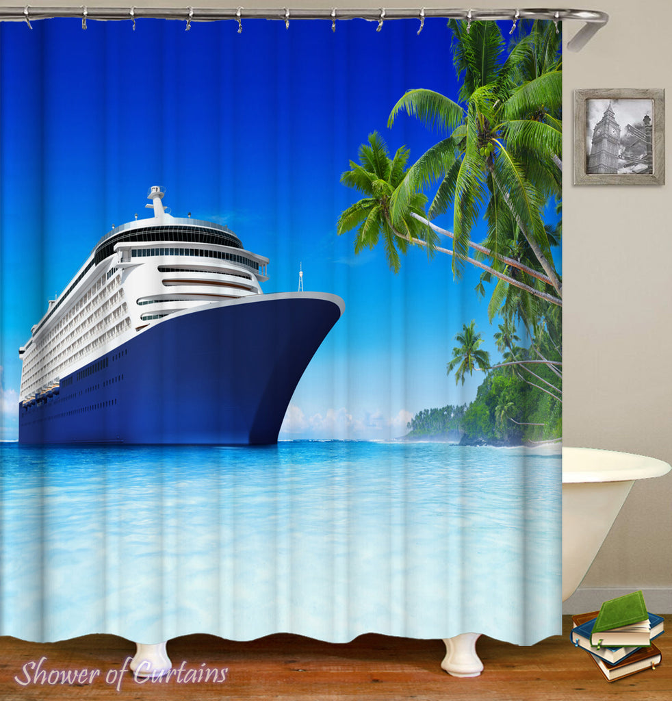 Tropical Pleasure Cruise - tropical shower curtains-  tropic vacition blog