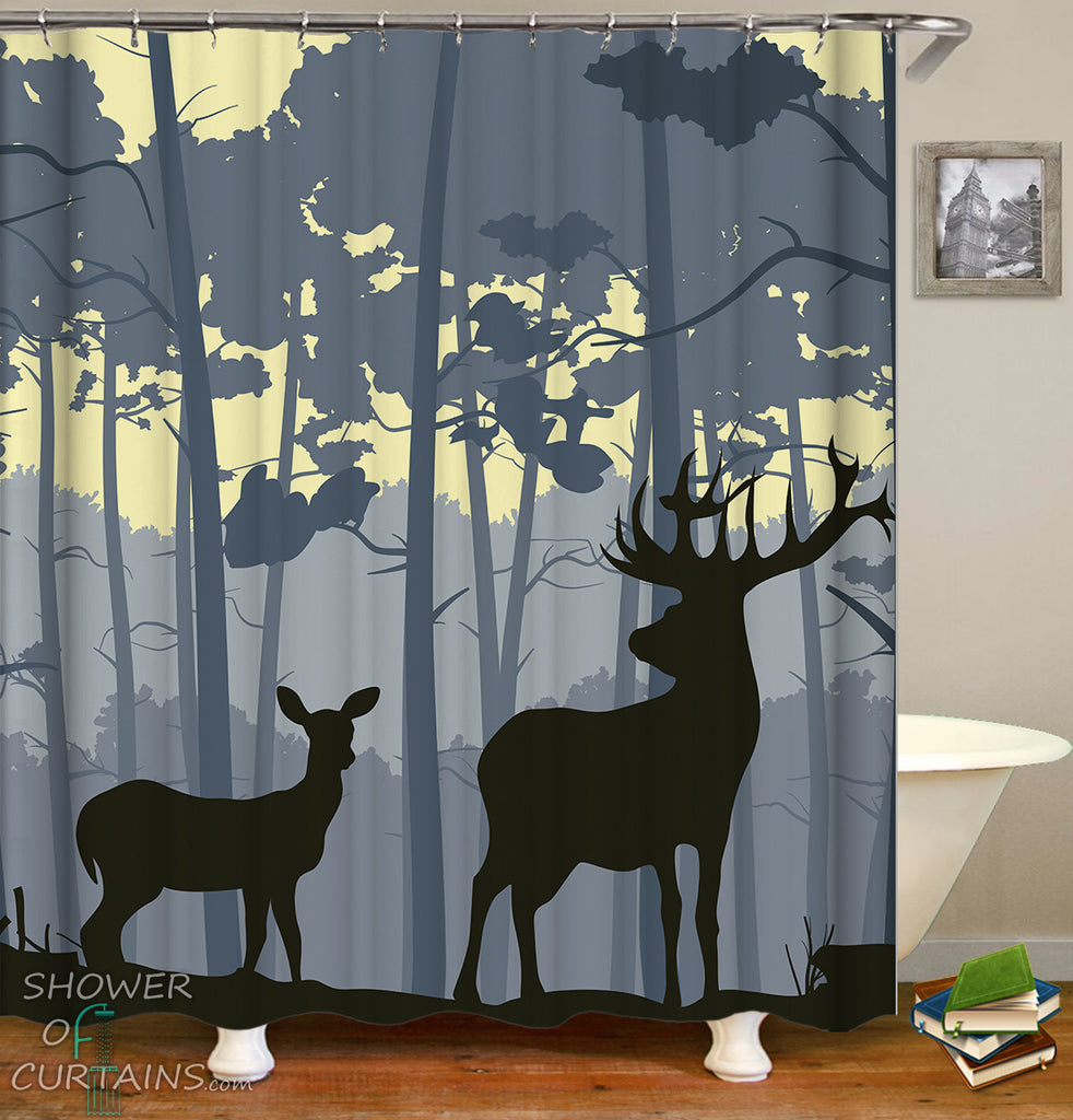 Wildlife Shower Curtains - Huntters Bathroom