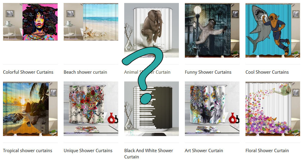 Cool, Flamingo and Anchor shower curtain collections