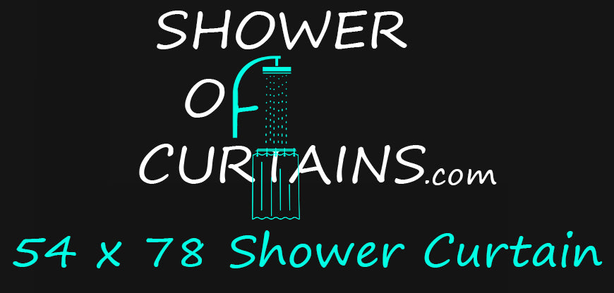 54x78 shower stall curtain