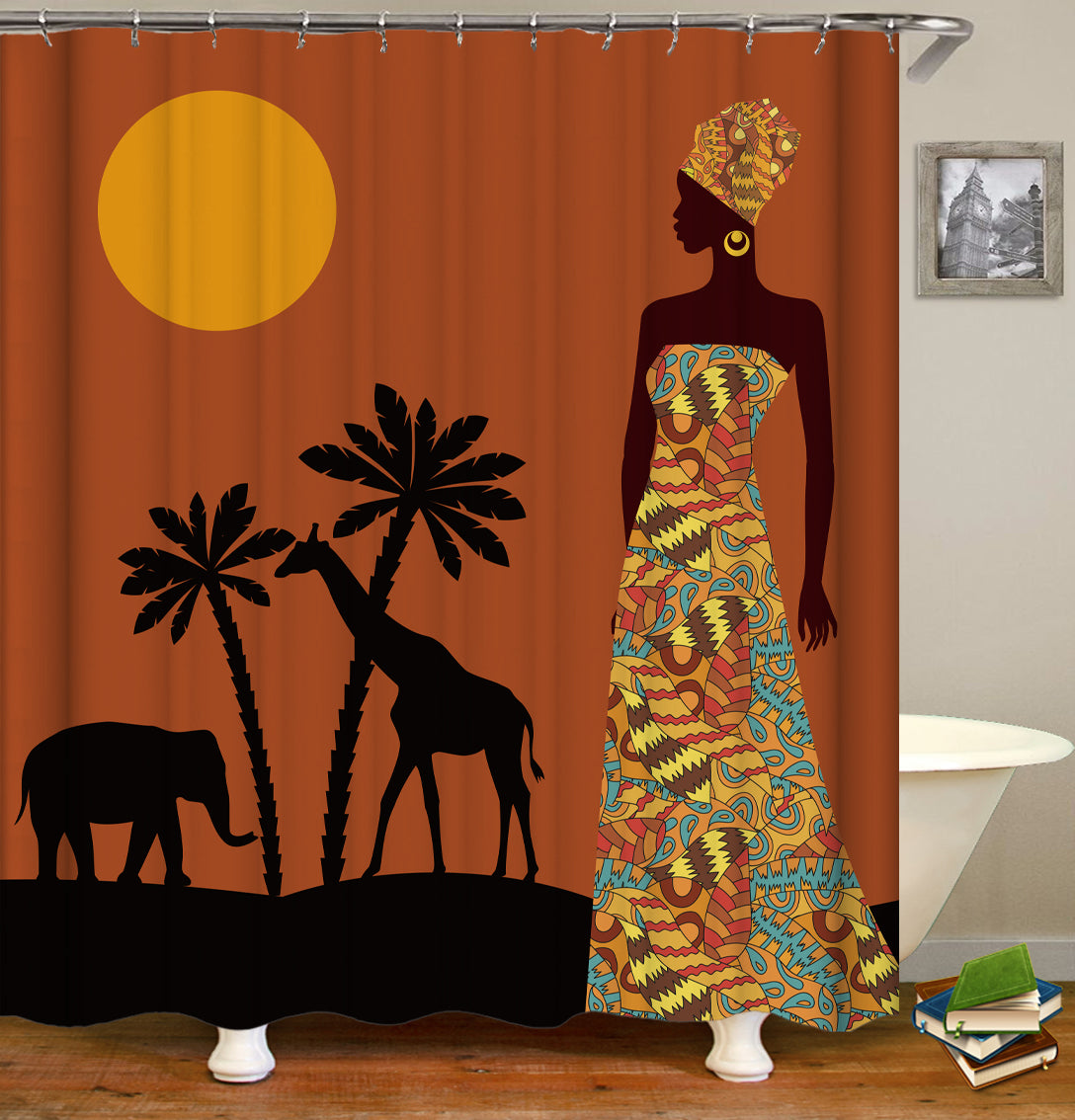 African Shower Curtain Collection Shower Of Curtains