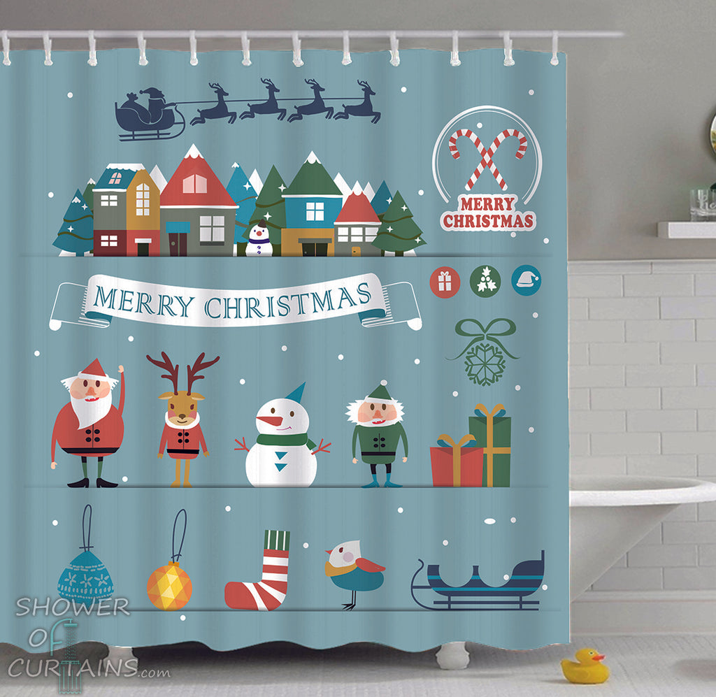 Christmas Shower Curtains Collection Logo