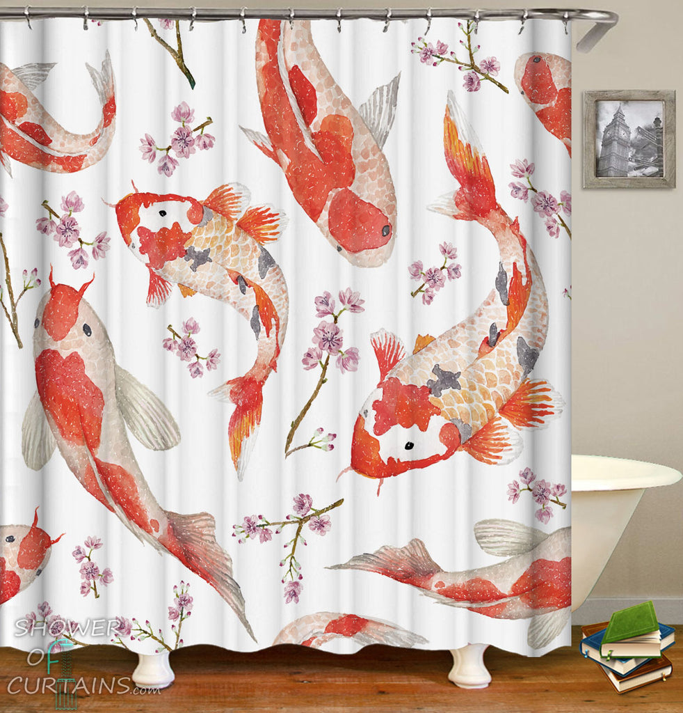 Fish Shower Curtains
