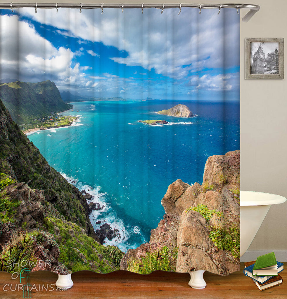 Nature Shower Curtains - Isolated Beach Glance